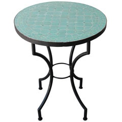 Moroccan Mosaic Teal Color Bistro Table