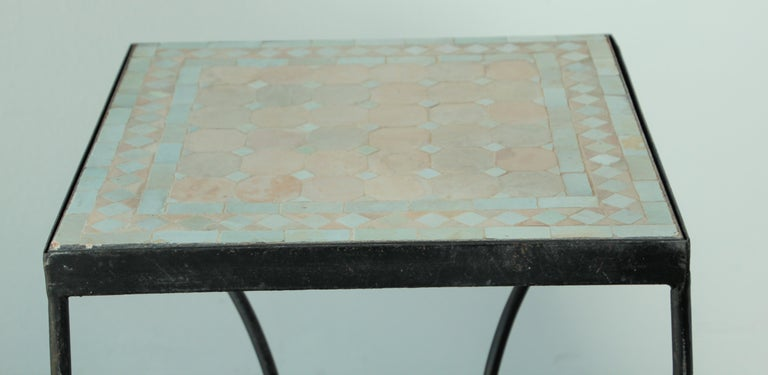 Moroccan Mosaic Tile Bistro Table For Sale 4