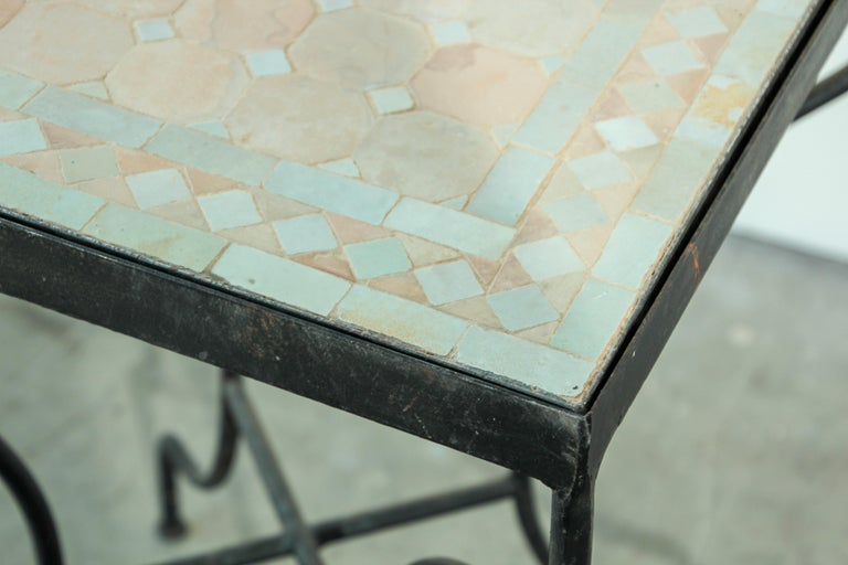 Moroccan Mosaic Tile Bistro Table For Sale 5