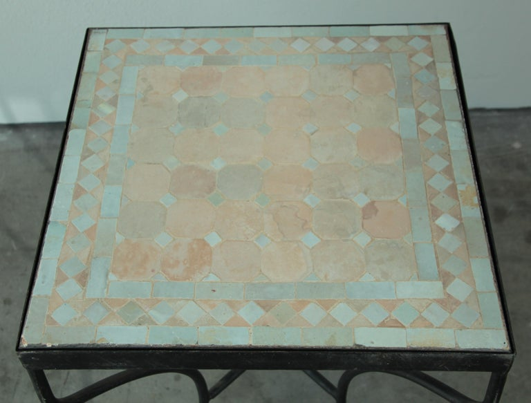 Moroccan Mosaic Tile Bistro Table For Sale 7