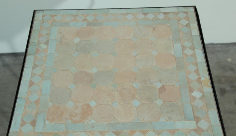 Moroccan Mosaic Tile Bistro Table For Sale 8