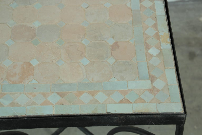Moroccan Mosaic Tile Bistro Table For Sale 9