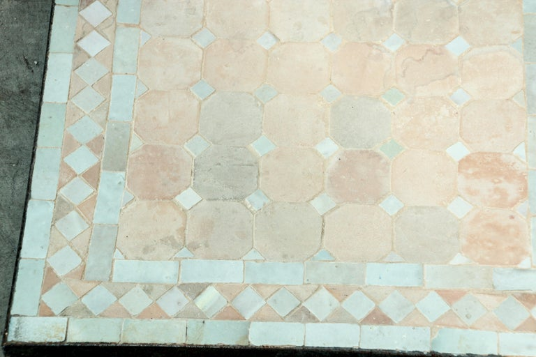 20th Century Moroccan Mosaic Tile Bistro Table For Sale