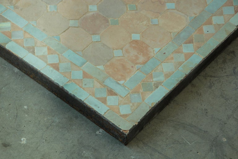Moroccan Mosaic Tile Bistro Table For Sale 2