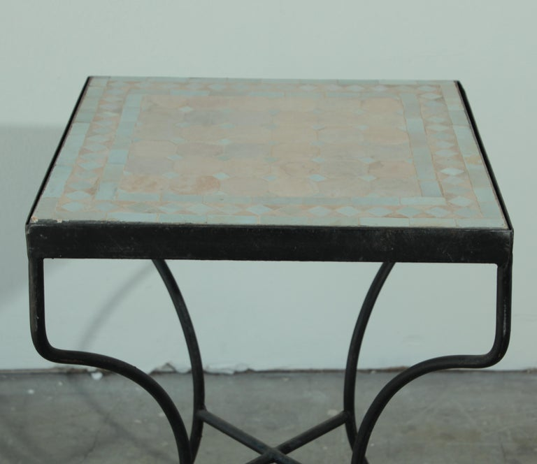 Moroccan Mosaic Tile Bistro Table For Sale 3