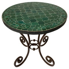 Moroccan Mosaic Tile Emerald Green Color Patio Table