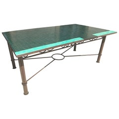 Moroccan Mosaic Tile Outdoor Rectangular Dining Table