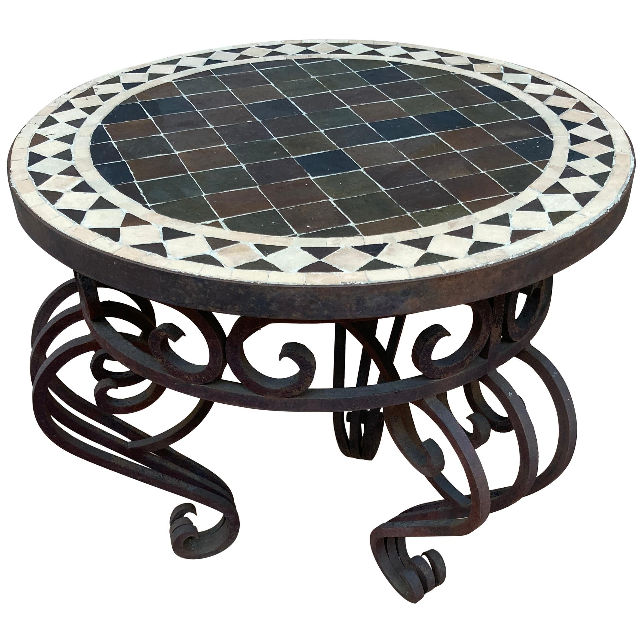 Moroccan Mosaic Tile Side Table