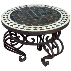 Moroccan Mosaic Tile Side Table