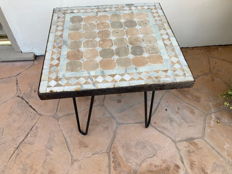 Moroccan Mosaic Tile Square Tile Side Table 3
