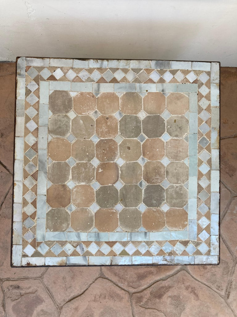 Moroccan Mosaic Tile Square Tile Side Table 4