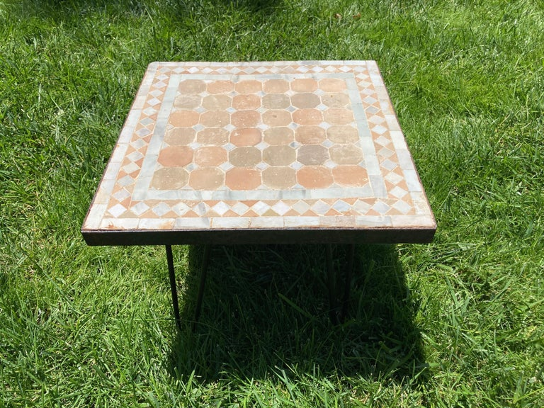 Moroccan Mosaic Tile Square Tile Side Table 6