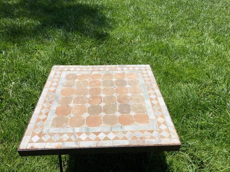 Moorish Moroccan Mosaic Tile Square Tile Side Table