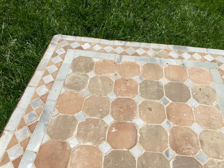Ceramic Moroccan Mosaic Tile Square Tile Side Table