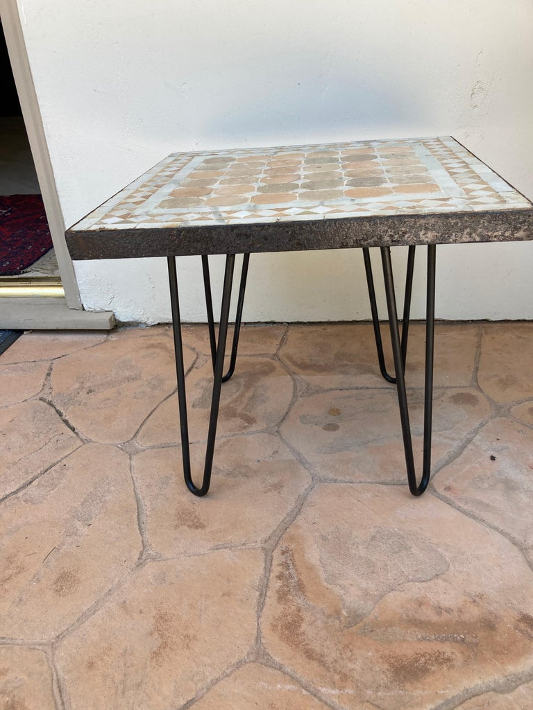Moroccan Mosaic Tile Square Tile Side Table 2