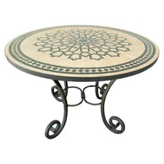 Moroccan Mosaic Tile Table in Fez Moorish Design