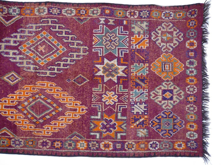 Moroccan / North African Vintage Berber Rug In Excellent Condition For Sale In Lohr, Bavaria, DE