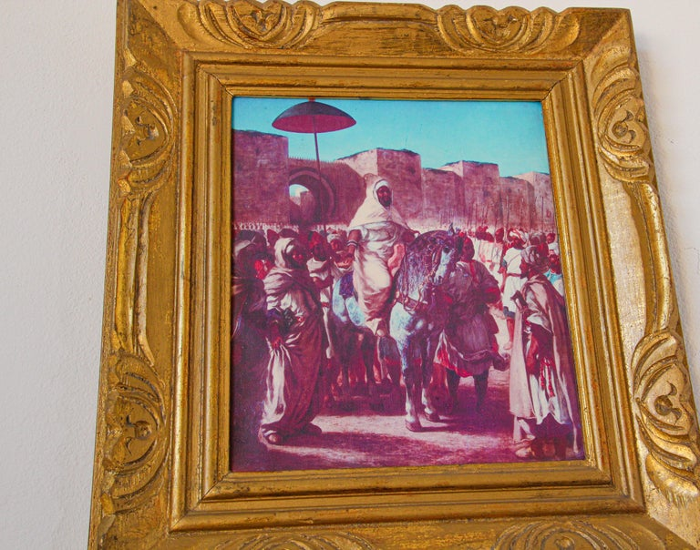 Moroccan Orientalist Framed Giclee For Sale 3