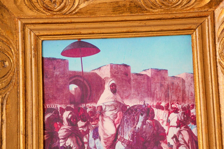 Wood Moroccan Orientalist Framed Giclee For Sale