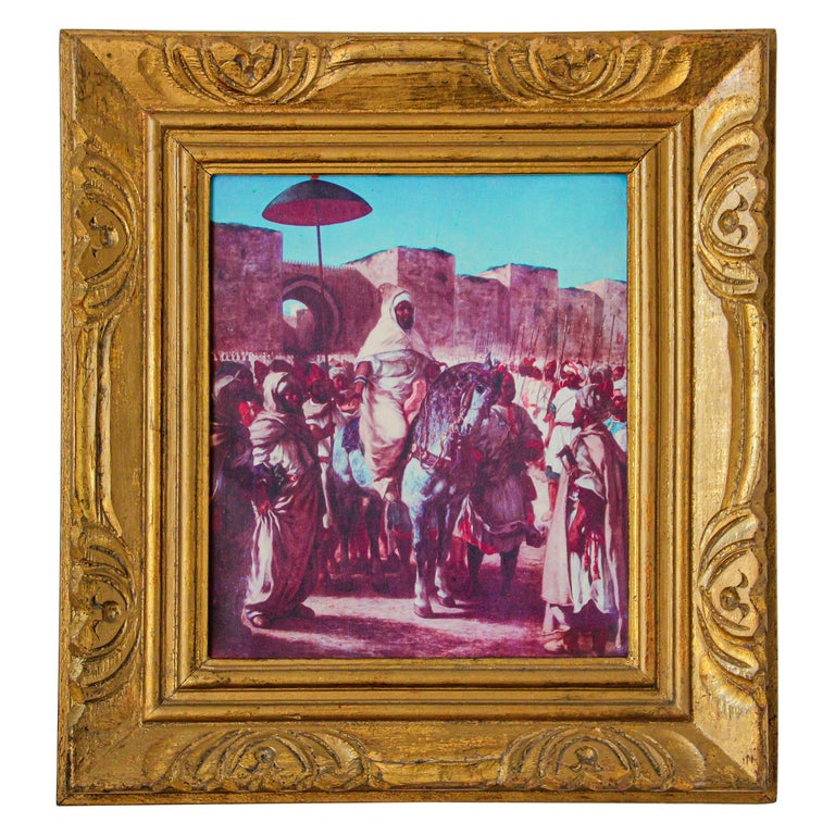 Moroccan Orientalist Framed Giclee For Sale