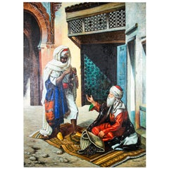 Moroccan Moorish Orientalist Oil Painting