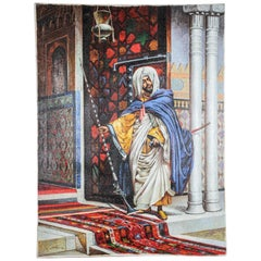 Moroccan Orientalist Oil Painting of a Moorish Men