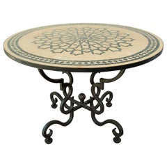 Moroccan Outdoor Table in Mosaic Fez Moorish Design
