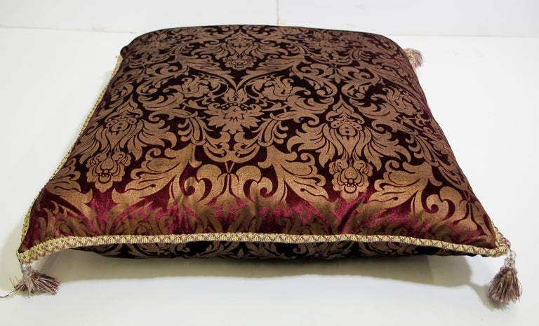Silk Moroccan Oversized Floor Pillow Cushion For Sale