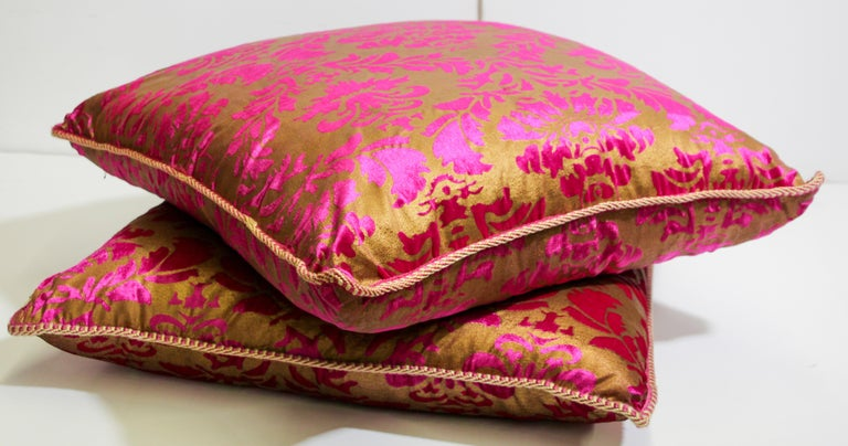 Moroccan Oversized Pink and Gold Floor Pillow Cushion For Sale 5