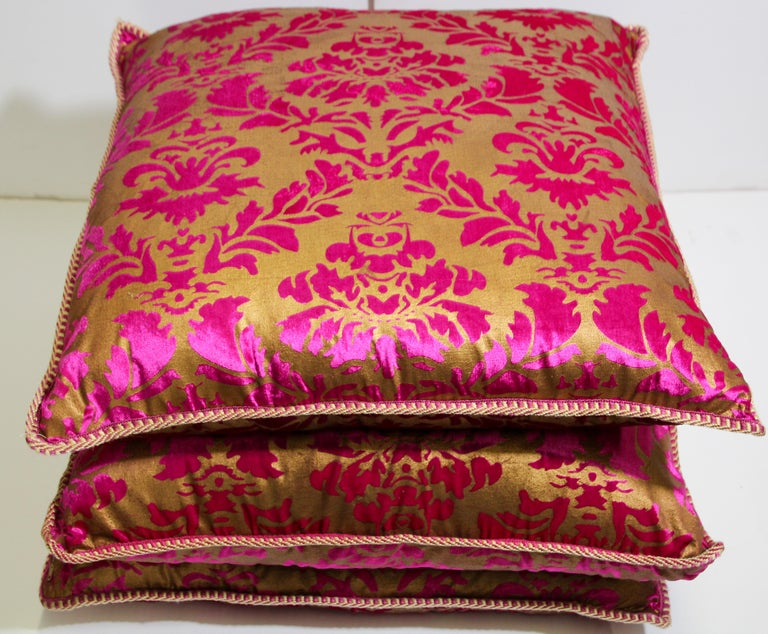 Moroccan Oversized Pink and Gold Floor Pillow Cushion For Sale 11