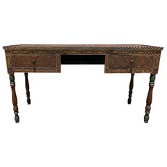Moroccan Painted Wood Desk