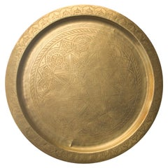 Moroccan Polished Brass Tray