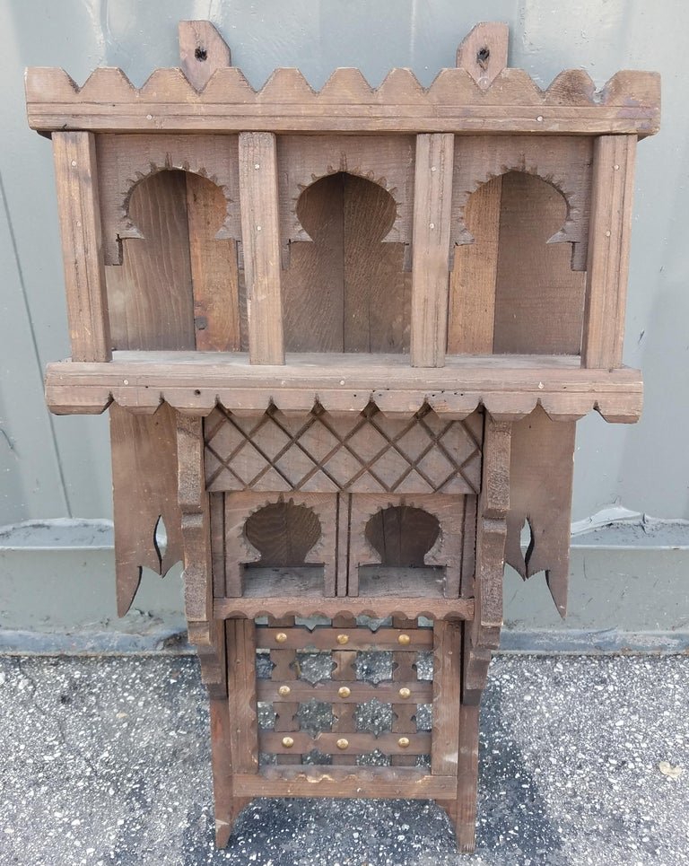 Moroccan Reclaimed Wood Wall Shelf, Small Ben For Sale at ...