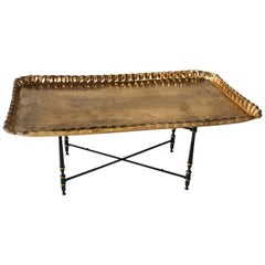 Moorish Rectangular Brass Tray Coffee Table