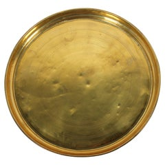 Moroccan Round Antique Brass Tray