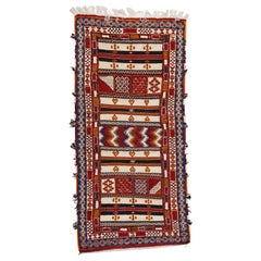 Moroccan Rug or Carpet with Tribal Design
