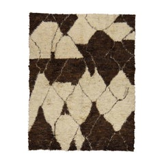 Moroccan Shaggy Thick and Plush Hand Knotted Pure Wool Rug