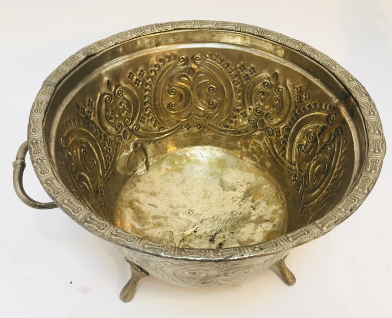 Moroccan Silver Repousse Plated Serving Dish Tajine with Cover For Sale 6