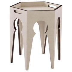 Moroccan Style End Table, Light