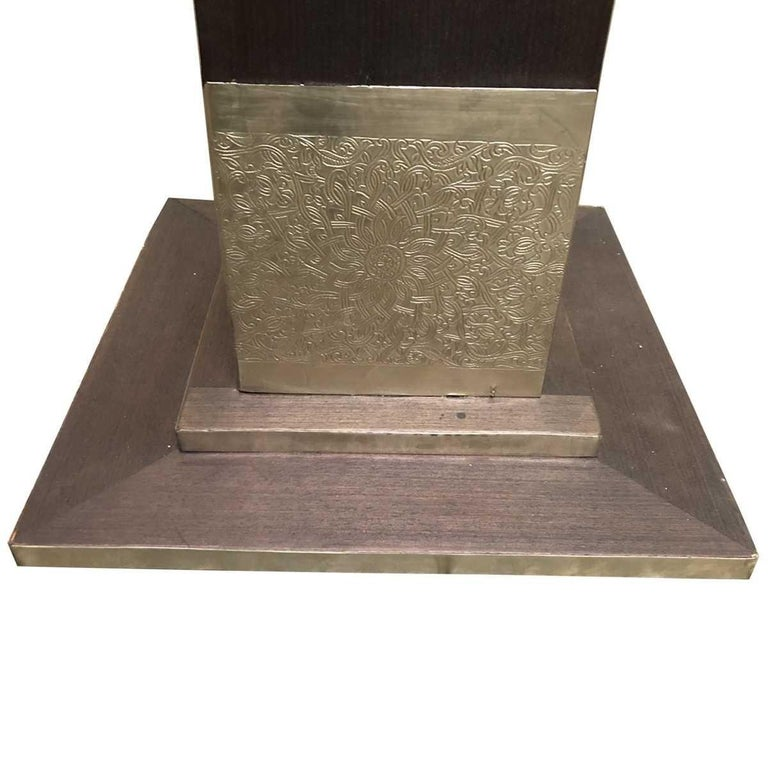 Metal Moroccan Style Hammered Console Table For Sale