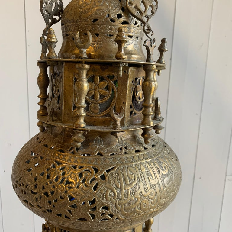Moroccan Style Lantern In Good Condition For Sale In Doylestown, PA