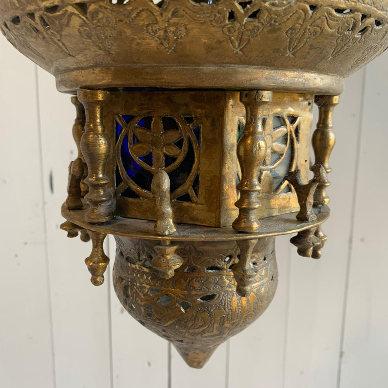20th Century Moroccan Style Lantern For Sale