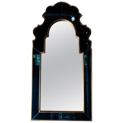 Moroccan Style Mirror with Blue Mirrored Frame