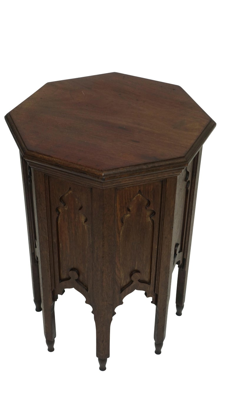 Moorish Moroccan Taboret Side Table, Early 20th Century For Sale