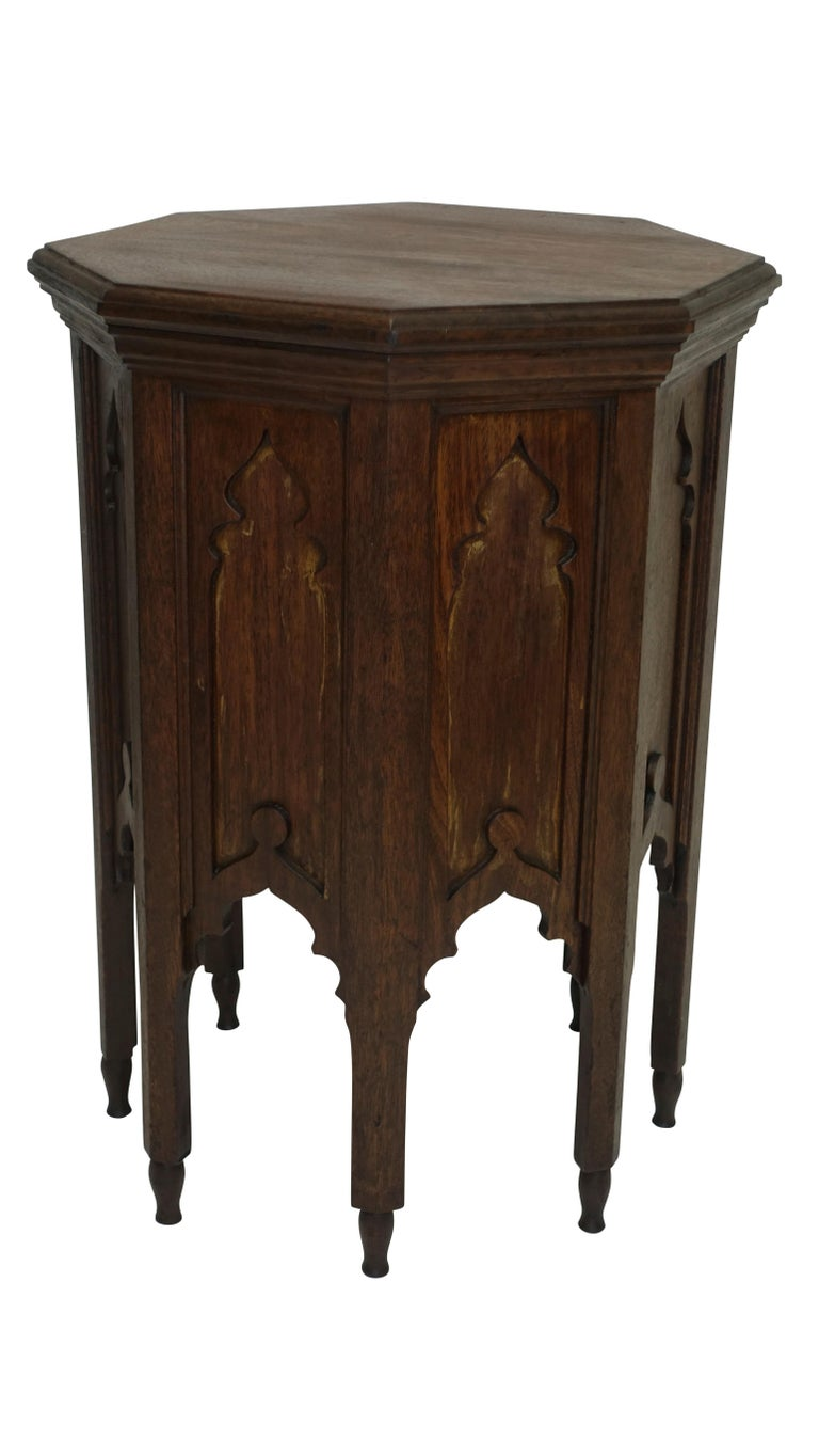 Moroccan Taboret Side Table, Early 20th Century In Good Condition For Sale In San Francisco, CA
