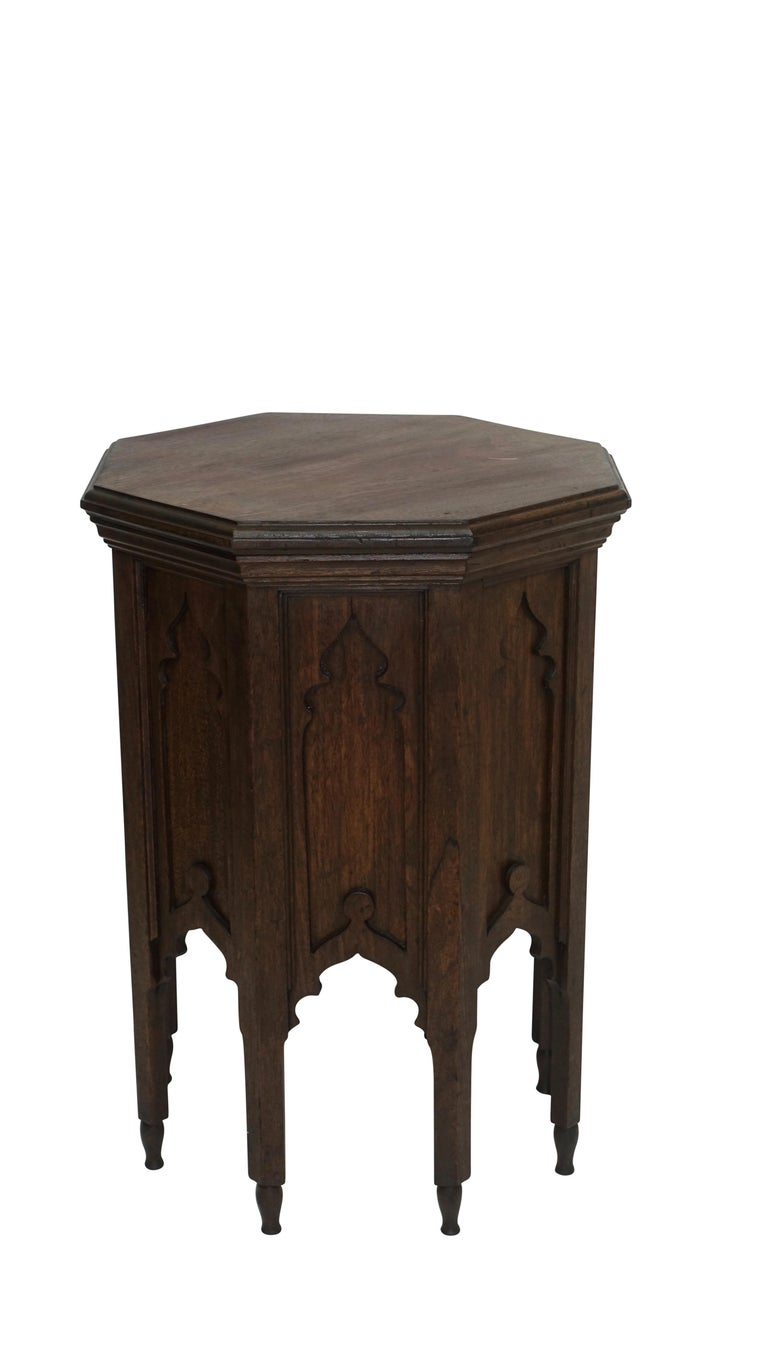 Wood Moroccan Taboret Side Table, Early 20th Century For Sale