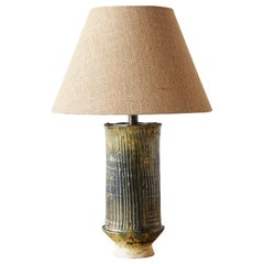 Moroccan Tamegroute Ceramic Lamp