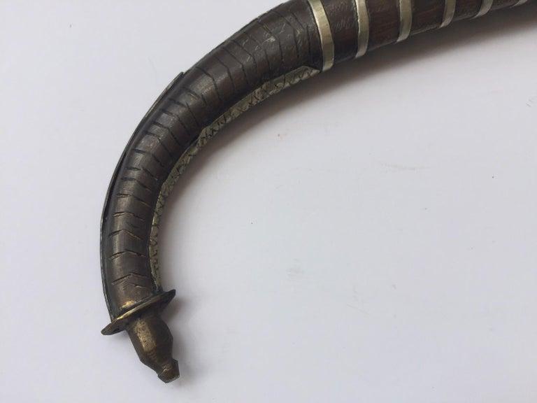 20th Century Moroccan Tribal Silvered Khoumya Dagger For Sale