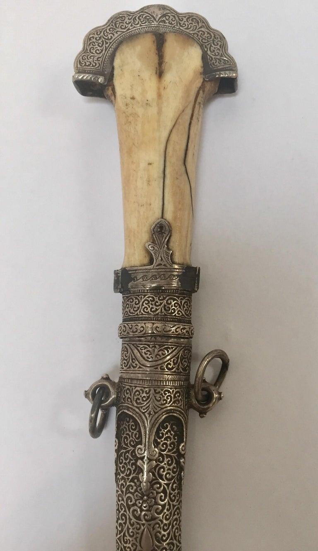 Moroccan Tribal Sterling Silver Khoumya Dagger For Sale 4