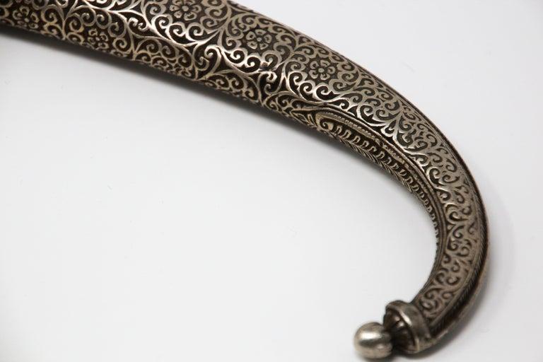 Moroccan Tribal Sterling Silver Khoumya Dagger For Sale 10